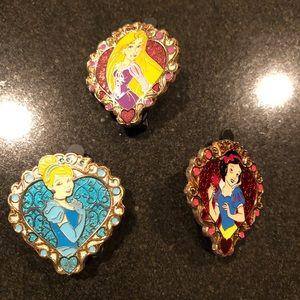 Princess Disney Trio Pin Set
